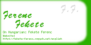 ferenc fekete business card